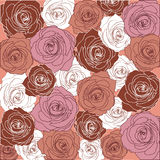 Pattern of passionate roses Stock Photography