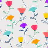 Pattern With Pastel Flower Background. Pattern With Pastel Flower. Vector Illustration Background Stock Images