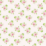Pattern with pastel pink roses