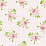 Pattern with pastel pink roses Royalty Free Stock Photo