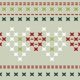 Pattern with patterns imitating embroidered pictures Stock Images