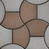 Pattern Pavement in the Form of a Trapezoid Stock Photography