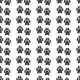 Pattern with paw prints with clutches Stock Photos