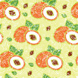 Pattern with peaches Stock Photo
