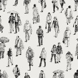 Pattern of the pedestrians Stock Photos