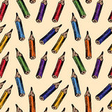Pattern of pencils Stock Images