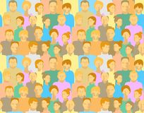 Pattern with people Stock Image