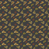 Pattern Pepperoni pizza color Stock Photos