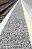 Pattern perspective view at the edge of platform Stock Photography