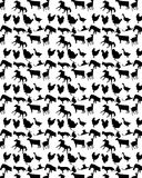 Pattern with pets. Of black color on a white background vector illustration
