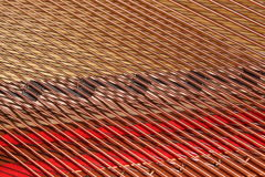 Pattern of Piano Strings Stock Photography