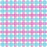 Pattern picnic tablecloth. In pink and blue Stock Photos