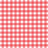 Pattern picnic tablecloth. In red and white colors Stock Photo