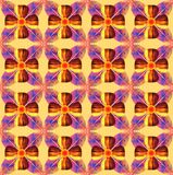 pattern picture ribbon and four leaves stock illustration