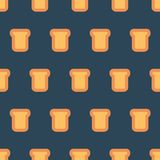 Pattern with pieces of bread. Simple vector illustration with ability to change stock illustration