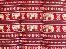 Pattern is a pillow of Northeast Thailand. Stock Photo