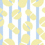 Pattern with pills, vitamins, capsules Royalty Free Stock Photography