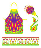 Pattern for pinafore feminine. With flower Stock Images