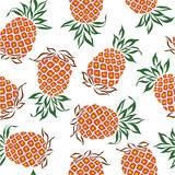 Pattern of pineapple Royalty Free Stock Image