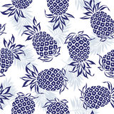 Pattern of pineapple Stock Image