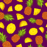 Pattern of pineapples. Summertime Stock Photos