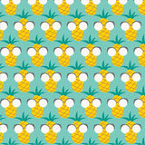 Pattern with pineapples. Vector EPS of pattern with pineapples Stock Illustration