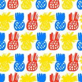 Pattern with pineapples Stock Photography