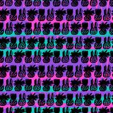 Pattern with pineapples Stock Image