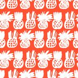 Pattern with pineapples Royalty Free Stock Photo