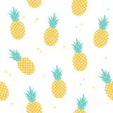 Pattern with pineapples. Vector seamless pattern with pineapples, simple summer pattern vector illustration