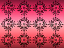 Pattern on a pink background. Black painted pattern on a pink background Stock Image