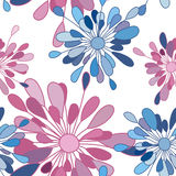 The pattern of pink and blue flowers Royalty Free Stock Photography