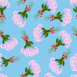Pattern of pink daisies Royalty Free Stock Photography
