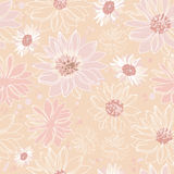 Pattern pink flowers Stock Image