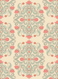 Pattern with pink flowers Stock Images