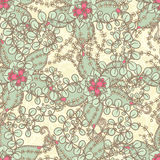 Pattern with pink flowers Royalty Free Stock Image