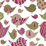 Pattern with birds stock illustration