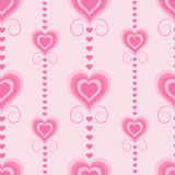 Pattern with pink hearts Royalty Free Stock Image