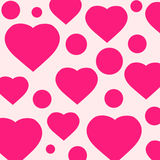 Pattern with pink hearts Royalty Free Stock Photos