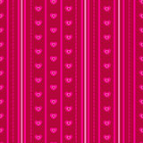 Pattern with pink hearts Stock Photography