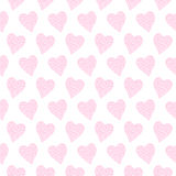 Pattern with pink hearts Royalty Free Stock Photography