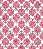 Pattern with pink pomegranates. stock illustration