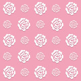 Pattern pink roses background Royalty Free Stock Photos