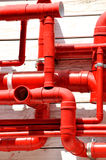 Pattern in pipe. Pattern in red pipe, shown as featured shape and complex circuity Royalty Free Stock Photos