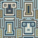 Pattern pixel art blue brown. Vector pattern illustration pixel art blue brown Royalty Free Illustration