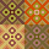 Pattern pixel art brown red Stock Image