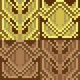 Pattern pixel art gold brown Royalty Free Stock Photography