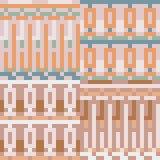 Pattern pixel art pastel cream Stock Image