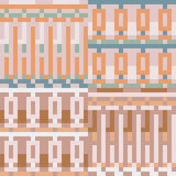 Pattern pixel art pastel cream. Vector pattern illustration pixel art pastel cream Stock Illustration