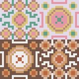 Pattern pixel art round brown. Vector pattern illustration pixel art round brown Vector Illustration